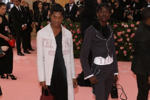 Telfar Clemens with his iconic shopping bag at the Maet Gala