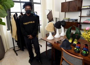 Edvin Thompson of Theophilip at Black In Fashion Council Showroom - February 2021 - New York Fashion Week: The Shows