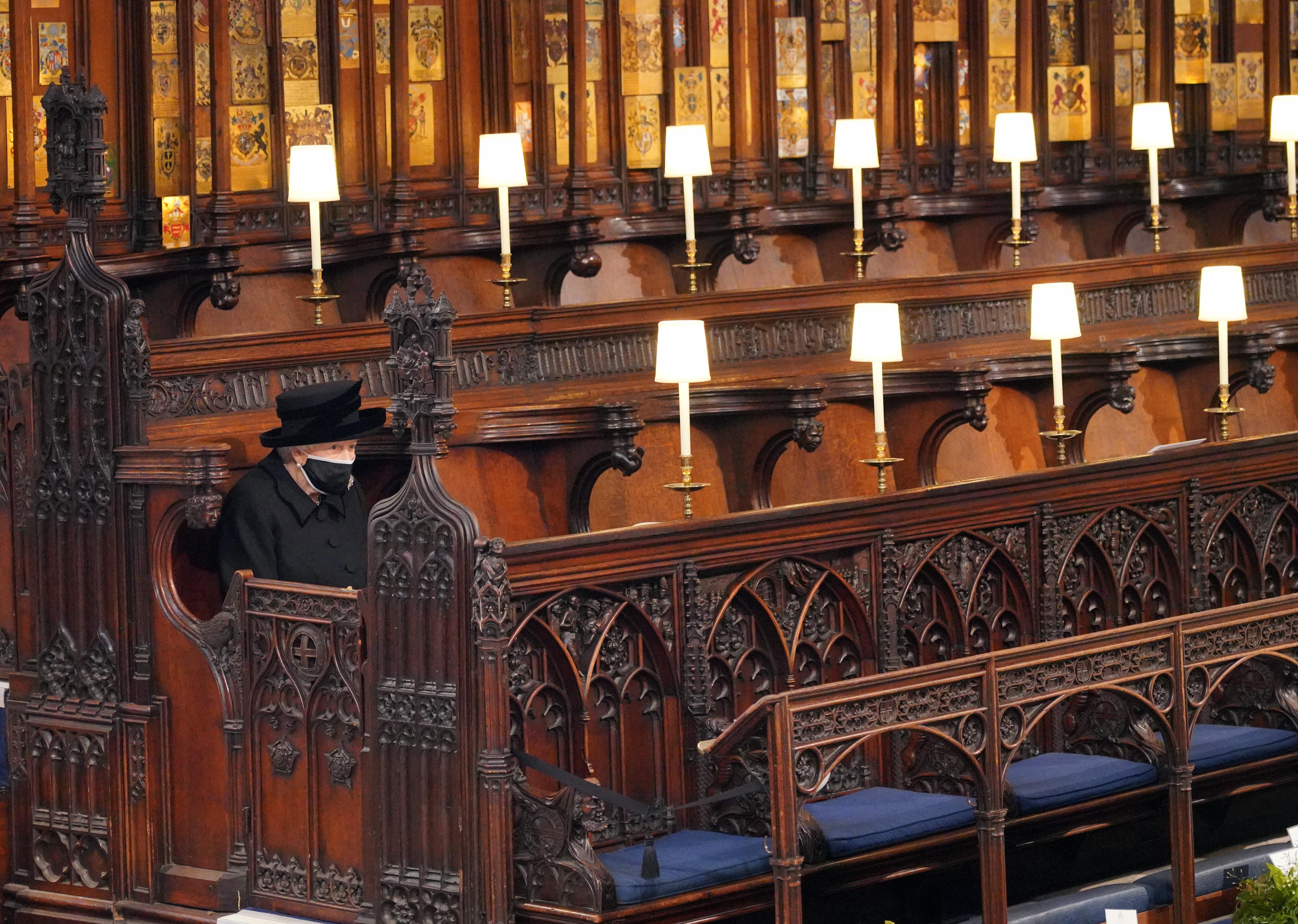 Queen Elizabeth II Prince Philip funeral