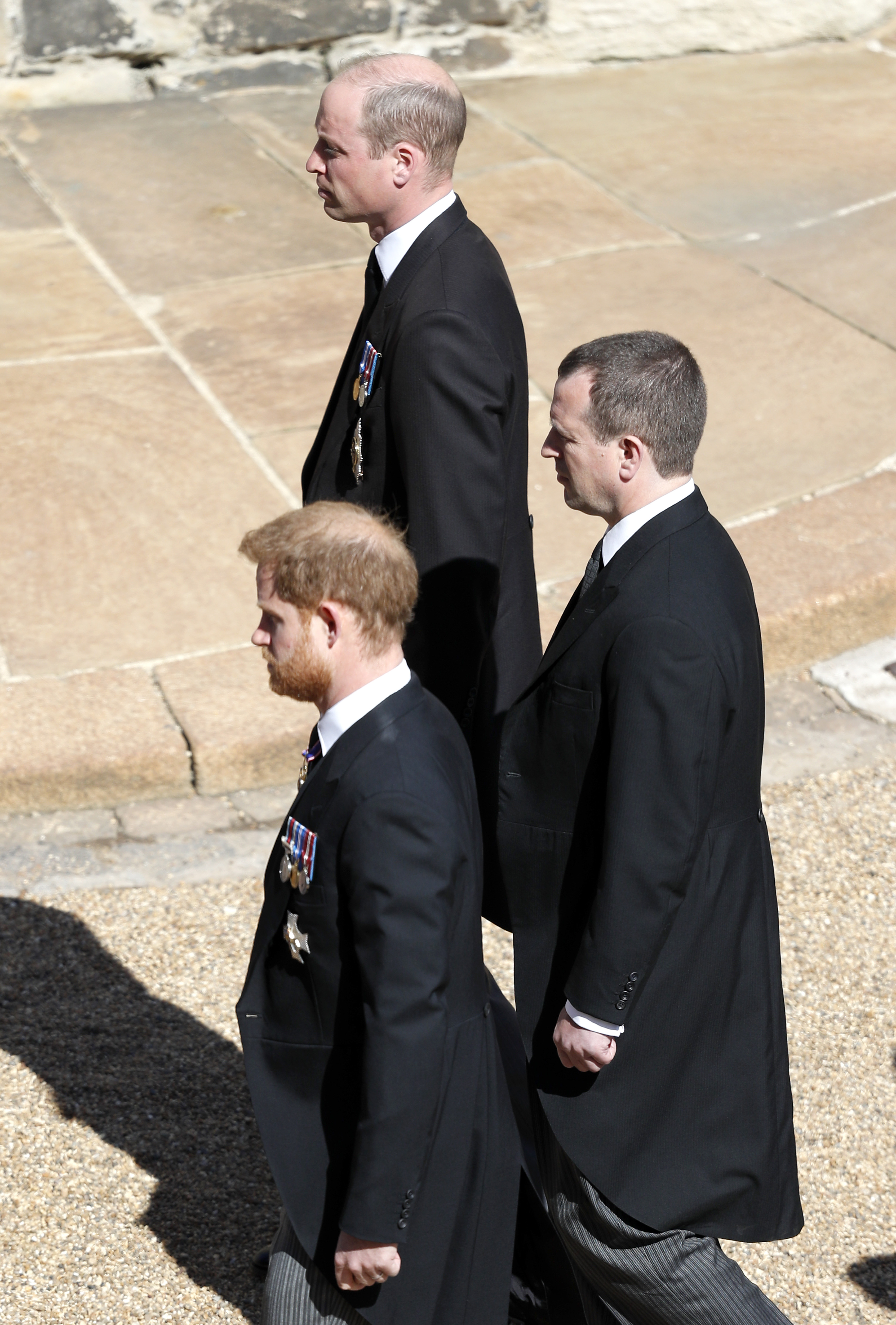 Prince Harry Prince William Prince Philip Funeral