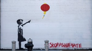 """Banksy's """"Tribute Girl with Balloon"""""""