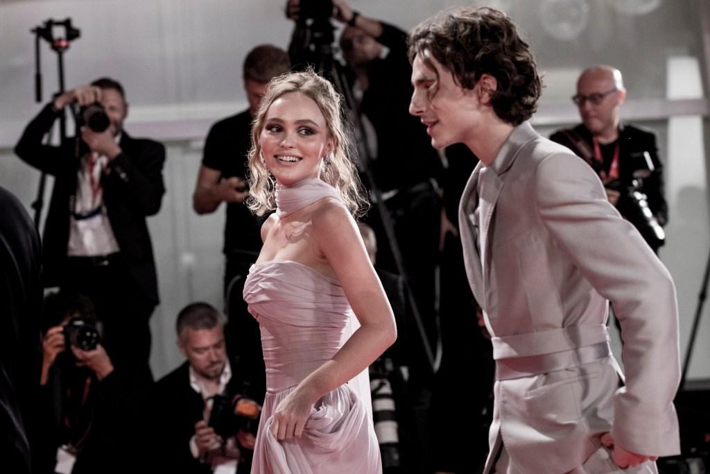 Timothée Chalamet Lily-Rose Depp